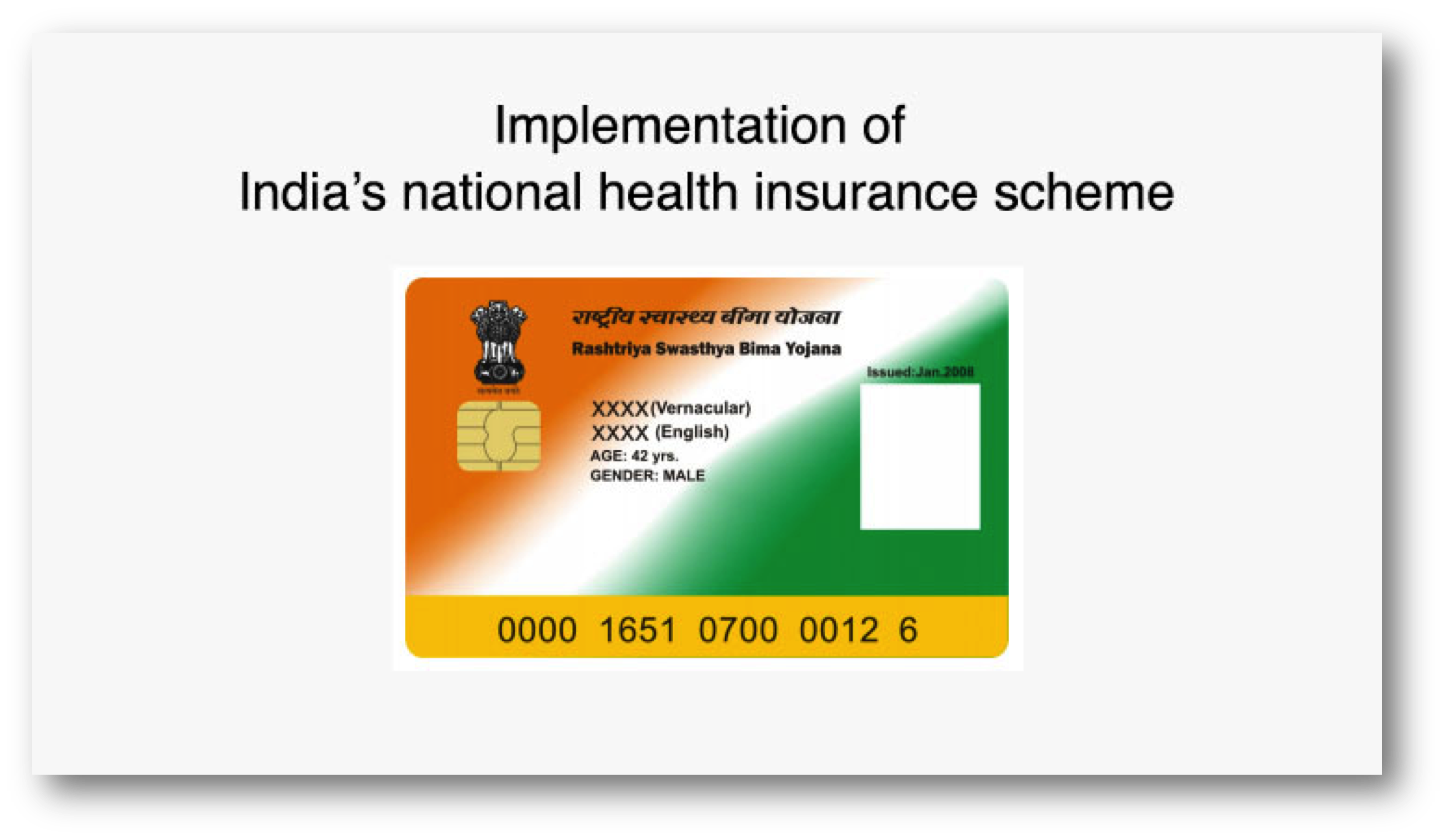 Implementation of India's national health insurance scheme ...