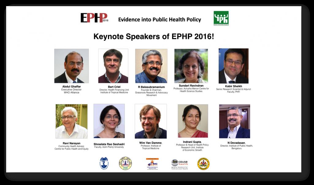 Keynote Speakers of EPHP 2016!