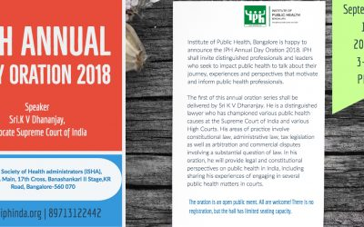 IPH Annual day oration 2018