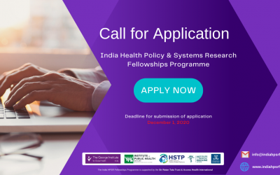 Call for Application India HPSR Fellowships Programme