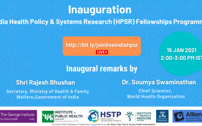 Inauguration India HPSR Fellowships Programme