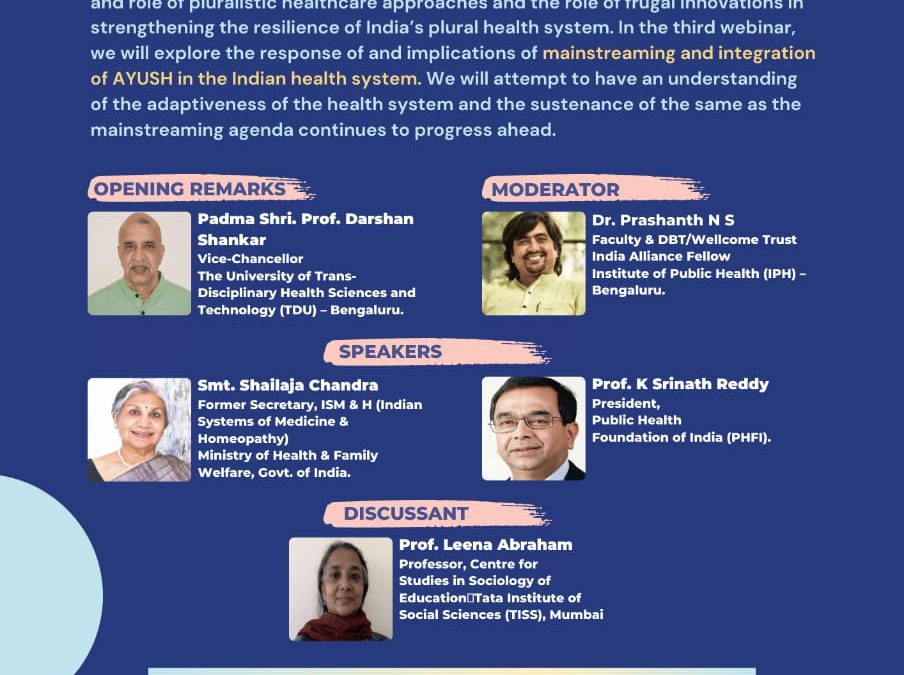 Strengthening the Resilience of India's Plural Health System: Lessons from the COVID-19 crisis